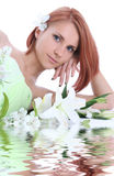 Relax with lilly in water Royalty Free Stock Photo