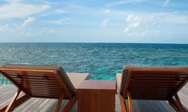 Relax in maldives Stock Photo