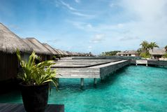 Relax in maldives Royalty Free Stock Photos