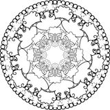 Relax, Mandalas, drawing with coloring lines, on white backgroun Stock Image