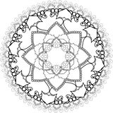 Relax, Mandalas, drawing with coloring lines, on white backgroun Stock Photos