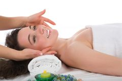 Relax massage to the girl royalty free stock images