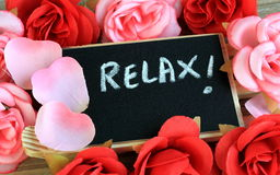 Relax message Stock Photo