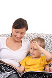 Relax with mother Stock Photography