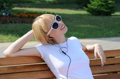 Relax with music Royalty Free Stock Photo