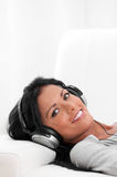 Relax with music Stock Photography