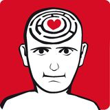 Relax in my head. Mind concept, man in love Stock Image