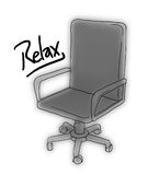 Relax office chair Royalty Free Stock Images