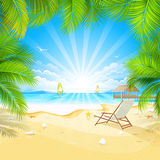 Relax On A Tropical Island Royalty Free Stock Photo