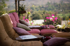 Relax outdoor chairs Stock Photos