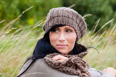 Relax outdoor woman royalty free stock photography