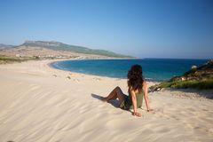 Relax over Bolonia beach Stock Images