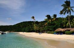 Relax in Palomino. Tropical beach of Palomino island in Puerto Rico Royalty Free Stock Photos