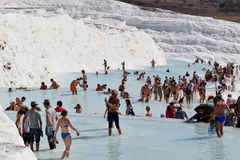 Relax in Pamukkale Stock Photo