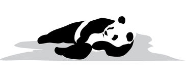 Relax panda. A panda is in the relaxed pose Stock Photo