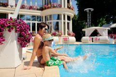 Relax at the pool Royalty Free Stock Images
