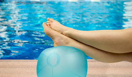 Relax on the pool Royalty Free Stock Images