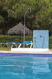 Relax by the pool. Stock Images