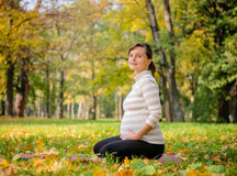 Relax - pregnant woman outdoor Stock Photography
