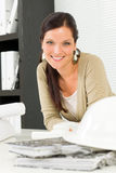 Relax professional architect woman smiling Stock Photography