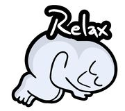 Relax puppet Stock Photo