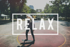 Relax Recreation Chill Rest Serenity Concept stock photos