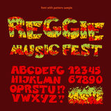 Relax reggae music color font. Royalty Free Stock Images