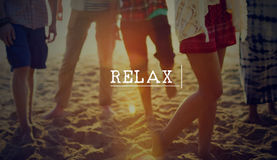 Relax Relaxation Beach Summer Fun Concept stock photography