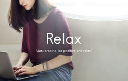 Relax Relaxation Peace Serenity Concept Stock Photos