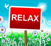 Relax Relaxation Represents Resting Pleasure And Relaxed. Relaxation Relax Meaning Peace Rest And Pleasure Royalty Free Stock Photography