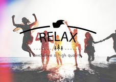Relax Relaxation Rest Chill Peace Vacation Life Concept Royalty Free Stock Photo