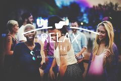 Relax Relaxation Rest Chill Peace Vacation Life Concept Stock Images