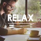 Relax Relaxation Rest Freedom Peace Serenity Concept Stock Photos