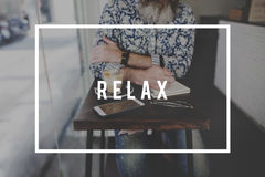 Relax Rest Calm Chill Recreation Concept royalty free stock images