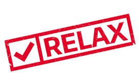 Relax rubber stamp Stock Image