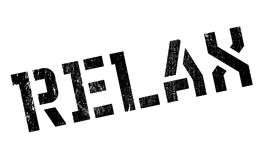 Relax rubber stamp Stock Images
