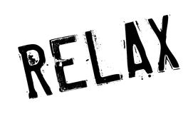 Relax rubber stamp Stock Photography