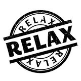 Relax rubber stamp Royalty Free Stock Image