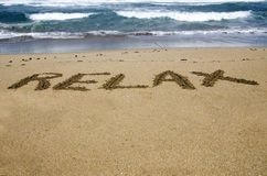 Relax on  sand Royalty Free Stock Photography