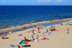 Relax on the sandy beach of the Baltic Sea Stock Image