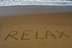 Relax on sandy beach 1 Stock Photography