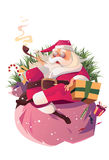 Relax santa. Enjoy the moment of christmas Stock Images