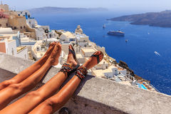 Relax at Santorini Royalty Free Stock Image