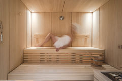 Relax in the Sauna Royalty Free Stock Photo