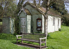 Relax on the seat by the village meeting house in Stainton Le Va Stock Images