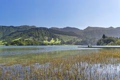 Relax at Sete Cidades. At the shore of the lake Sete Cidades stock photos