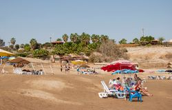 Relax on the shores of the Dead Sea Stock Image