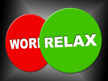 Relax Sign Represents Recreation Calm And Relaxation Stock Images