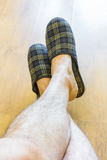 Relax with Slippers Royalty Free Stock Photography