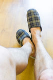 Relax with Slippers Stock Photography